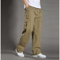 Wholesale New Arrival Cargo Pants - Wholesale-Men's Casual Pants Plus Size XXL XXXXL 6XL Overalls New Arrival Outdoor Tactical Army Military Cargo Pants Man Sport Trousers