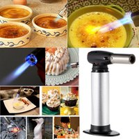 Wholesale Handheld Blowtorch Professional Chef s Torch Portable Outdoor Flame Gun Camping Gas Torch Flame Thrower Burner Welding Gun Butane E1443