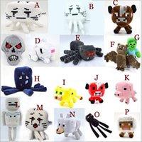 Wholesale Minecraft Free Shipping - Minecraft Plush Toy Brinquedos Game Toys Cheapest Sale High Quality Plush Toys Cartoon Game Toys free shipping