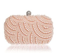 2017 Time-limited Top Minaudiere Beaded Exquisite Evening Bag Noble Elegant Pearl Clutches Sacs Shoulder Party Smysfx-e0149