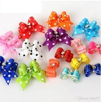 Wholesale Christmas Dog Hair Accessories - Wholesale - Special Sales!! Handmade Fashion dog bows Grooming dog Hair Accessories Pet hair bows For Puppy Gifts Hair Rubber Bands 0595