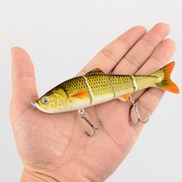 Wholesale Multi Jointed Fishing Lures - 4-Sections Multi Jointed Segmented Fishing Lure Plastic Bionic Bait Fish F00166 SPDH