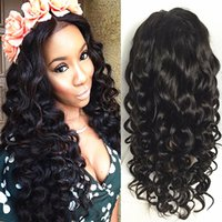Wholesale Transparent Lace Top - Best quality peruvian glueless silk top full lace wig 100% human hair body wave silk base lace wigs with natural baby hair