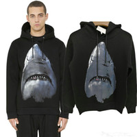 Wholesale Women S Designer Pullover - Winter Europe Paris Luxury Brand American Fashion Men Black Shark Sweatshirt Casual Women space cotton Hooded Designer Hoodies