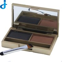 Wholesale Eye Shadow Palette Leopard - Wholesale-Ladies Leopard Eyebrow Powder 2 Colors Shadow Palette Woman Waterproof Eye Brow Enhancer Longlasting With Brush Make Up 2HM4