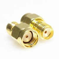 Wholesale Male Coax Female Connector - RP SMA Male Plug to SMA Female Jack Straight RF Coax Adapter Connector Converto Fedex DHL free shipping in stock 500 pieces up