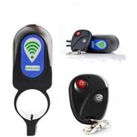 alarma de bicicleta de control remoto al por mayor-De acceso inalámbrico de bicicletas control remoto alarma antirrobo de bloqueo de Impacto Vibración sensor de bicicleta bicicleta de la seguridad de bloqueo de ciclo