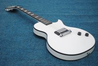 Wholesale Stocking For Body - Custom shop white LP electric guitar 1 Pickup ebony fingerboard electric guitar chinese guirar in stock Handmade guitars