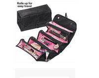 Wholesale Toiletries Bag For Travel - Wholesale- 2017 Nylon Waterproof Female Makeup Bag Cosmetic Cases Box Lady Cosmetic Bag For Travel Bag Toiletries Ladies Beautician
