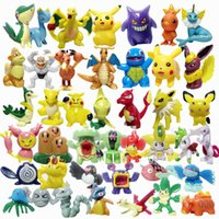 Wholesale Charizard Action Figure - Poke Figures Toys 2-3cm Pikachu Charizard Eevee Bulbasaur Suicune PVC Mini Model Toys For Children action figures free shipping in stock