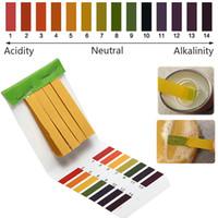 prueba de ph prueba de tira al por mayor-80 tiras de rango completo 1-14 Kit de prueba de tornasol de agua de ácido alcalino pH PH