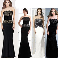 Wholesale Solid Black Mermaid Prom Dress - New Lace floral maxi dress Women Full Length Mermaid Long Sleeves Evening Party Dresses backless Prom Gown
