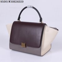 Wholesale Hand Bat - Top leather Totes Women Bat bags Original quality 30x26x20cm size first hand prices Support mixed orders fast free shipping