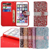 Pour Iphone 6 Luxury Glitter Bling cristal de diamant en cuir PU Wallet Case Iphone Bling cas de l'iPhone 6 6s, plus DHL SCA105 gratuit