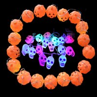 Decorazione della scena di Halloween Scatole di zucca i teschi 18Pcs Lanterna catene Huanted House Bar KTV Outdoor Decorazione Forniture Decorazione senza Controller