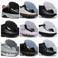 Wholesale fabric charcoal - High Quality Cheap Air 9 Basketball Shoes Men 9s Copper Statue Anthracite Baron Charcoal Johnny Kilroy J9 Sneakers size 40-47