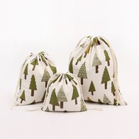 Wholesale Tree Decorations Pouches - Drawstring bags Christmas tree Gift wrapping bag Gift pouch Jewelry pouch bag mix color Candy bags package bag JF-276