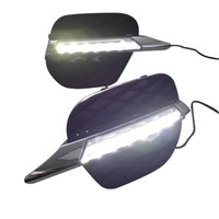 Wholesale Bmw X5 Kit - 2pcs LED Daytime Running Light Super Bright DRL Lamps Kit for BMW X5 E70 2011~2012 Daylight Fog Bulbs Waterproof