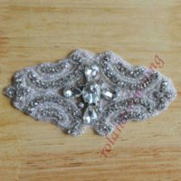 Wholesale Crystal Rhinestone Applique Embellishment - 2014 new crystal accessories bridal beaded appliques motif embellishments rhinestone RA336 M63760 wedding decorations color