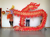 Wholesale Costumes For Students - 7m size 5 For 6 student silk fabric Chinese Spring Day DRAGON DANCE ORIGINAL Dragon Chinese Folk Festival Celebration Costume