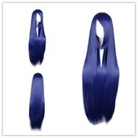 """Wholesale Naruto Hinata Wig - 100% Brand New High Quality Fashion Picture full lace wigs>>Party Wigs Cosplay Wig Synthetic Hair 100cm 39.4"""" for Naruto-Hyuuga Hinata Blue"""