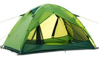Wholesale Two Person Camping Tent - two person Windproof Waterproof Anti UV Dome Tent summer Camping hiking 4 seasons Tent free shippingWindproof Waterproof Anti UV Do