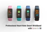 os relógios vibram venda por atacado-2017 pulseira bluetooth com monitor de freqüência cardíaca de pressão arterial relógio inteligente para ios smartphone android smartwatches tipo de atividade de vibração