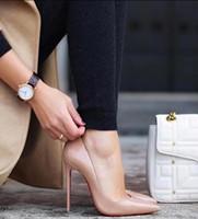 Wholesale Patent Ladies Shoes - Ladies Designer Shoes Women Luxury So Kate 12cm Patent Leather Black Nude Heels Pigalle Fashion Wedding Shoes Women Pumps