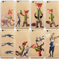 Wholesale Despicable Iphone Casing - TPU Silicon Cover Despicable Zootopia Case For iPhone 5 5S 6 6S 6S Plus Soft Clear Fundas Cover Coque Capa Para Nick Wilde