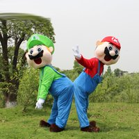 Wholesale Super Mario Characters Fancy Dress - super mario mascot costumes adult mascots cartoon character plush christmas party fancy dress free shipping wholesale price