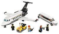Lepin 02044 City Airport VIP Service Set de bloco de avião Limousine Car Model Toy Compatível com 60102