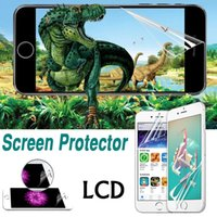 Wholesale Huawei S7 Screen - Transparent Clear Front LCD HD Screen Protector Guard With Cloth For iPhone X 8 7 Plus Samsung Note 8 5 S7 Edge Huawei P10 Xiaomi 6 LG G6