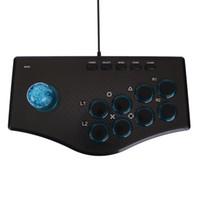 contrôleur d'arcade pc achat en gros de-Vente en gros USB Baguette de combat Arcade Joysticks Manette Rocker Contrôleur Plug And Play Street Jeu Lutte Gamepad Pour PS3 / PC Pour Android