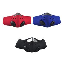 Wholesale Bicycle Mask Dust - Cycling Anti Dust Motorcycle ATV Ski Half Face Mask Outdoor Sport Bicycle Accessory Riding Filter Dustproof Mouth-muffle 3 Color 2501052