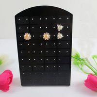 Wholesale Display Stand Holder Stander - 72 Holes 36 Pairs Earrings Ear Studs Jewelry Show Plastic Display Board Stander Storage Rack Stand Organizer Holder Christmas L Shape