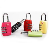 Wholesale Locking Metal Cabinets - Travel Lock Alloy TSA Customs Combination Code Lock Padlock For Luggage Zipper Bag Handbag Suitcase Drawer Cabinet 7 Colors #4078