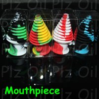 Wholesale Eco Toys - Tower Shape Silicone Mouthpiece Cover Rubber Drip Tip Silicon Colorful Cap For Smoking Bong Glass Water Pipe Dab Jar Dabber Wax DHL
