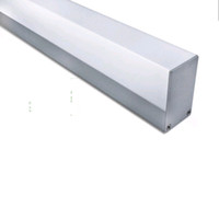 capas de luz de escritório venda por atacado-100 X 1 M jogos / lote Iluminação de escritório tira de canal de alumínio e cobertura profunda U alumínio luzes led para suspensão ou lâmpadas de suspensão