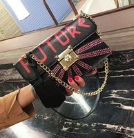 Wholesale Studded Shoulder Pu Leather - wholesale brand handbags and fashion diamond studded hand bag Street Style Leather Shoulder Messenger Bag Shoulder lock diamond tiger person