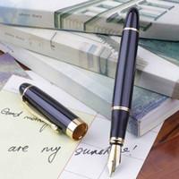 Wholesale Gold Nib Fountain Pen - High quality Jinhao X450 Fountain Pen Black Modern Medium Nib Gold Trim Hot ! <US$10 no tracking
