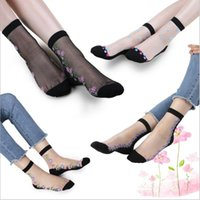 Summer Lace Trim Ankle Socks Donna Sexy Fashion Anklet Lady Trasparente Fiori Calze Retro Ruffle Frilly Ship Calze Sottile Calze da barca B2584