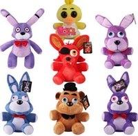 Wholesale Bonnie Babies Kids - Five Nights At Freddy's 4 FNAF Freddy 25cm chica bonnie Bear foxy Plush teddy bear Toys Doll for kids baby christmas doll gift free ship