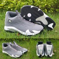 Wholesale Hard Plastic Duck - (With shoes Box) 2016 new Wholesale XVI Retro 14 Wolf Grey Oregon Ducks Hot Sale Men Shoes Free Shipping