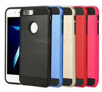 Wholesale Sample Mobile Phones - Free sample shockproof dual layer slim armor metal mobile phone case for iphone 7 plus 2 in 1 case