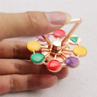 Wholesale Rose Wheels - New Metal Hand Spinner Phone Holder Toys Rudder Wheel Hand Spinner EDC Fidget Toy for DIY Phone Case Cover Fashion Gift 9 styles