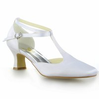 Wholesale T Bars Heels - Special SquredToe T-Bar Strap Bridal Dress Shoes Wedding Shoes Bridemaid Shoes Flower Girl Shoes Wedding Dress Shoes Size from 35--41