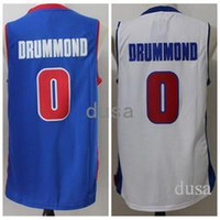 3fa8ca2a3da6 Basketball Unisex Sleeveless 2017 Andre Drummond Basketball Jerseys Blue  White  0 Andre Drummond Stitched Shirt