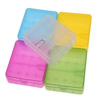 Wholesale Colorful Shipping Boxes - 4*18650 Plastic Battery Storage Box Case 18650 Battery Holder Container Colorful For 18650 18350 14500 Battery DHL Free Shipping