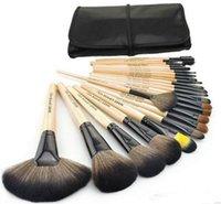 maquillage de réduction achat en gros de-Prix Remise 24Pcs Pinceaux de Maquillage Ensemble Cosmétique Kits Maquillage Outils Maquillage Brosse avec des brosses de sac en cuir composent pour vous