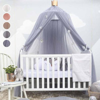 Wholesale Romantic Bedding Sets - Wholesale- Lovely baby Crib Sets Romantic hung dome mosquito net Princess Baby Bedding Baby living room ornament R2-16H
